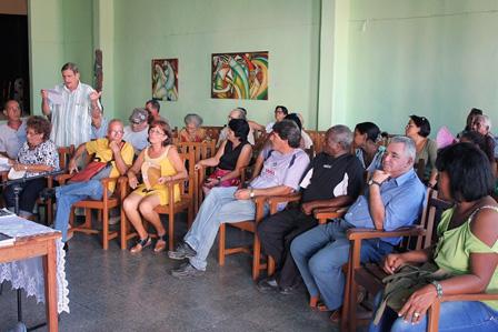 Público en la presentación de la revista Signos, en Jagüey Grande.