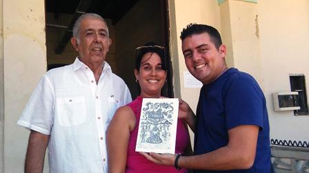 Luis Pérez, Yoanya Gómez y Alejandro Batista.